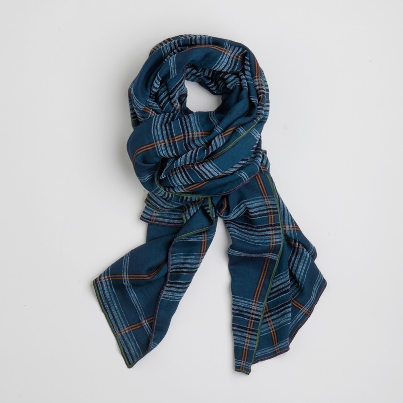 Mark maxi scarf Blue