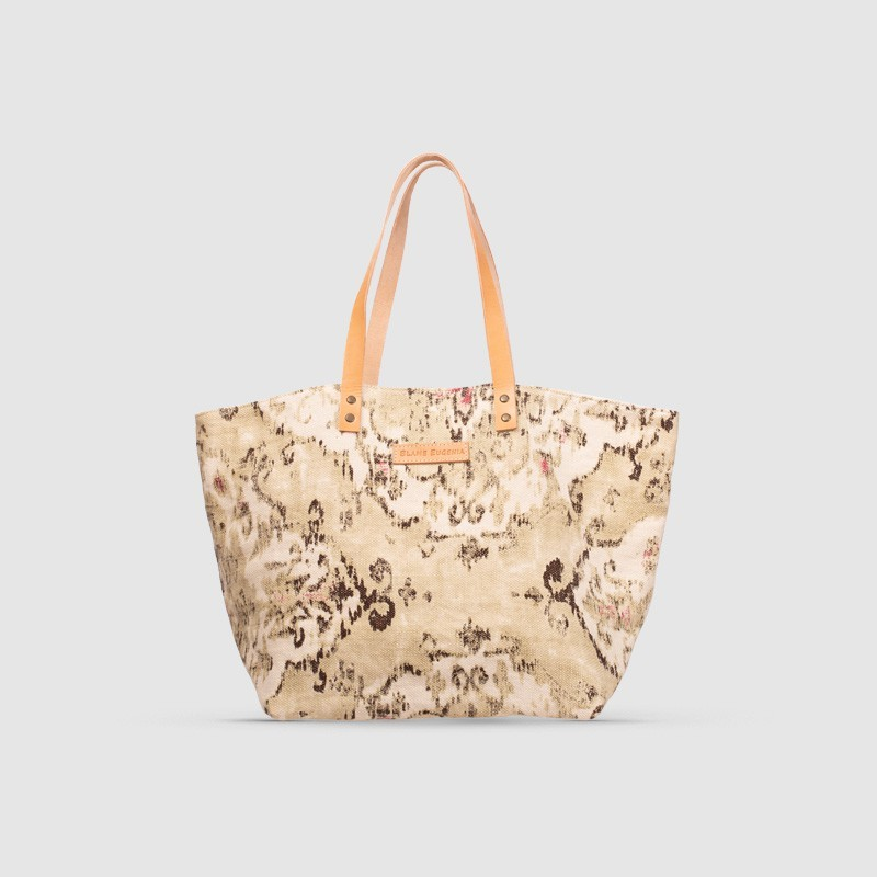 Betty Estampado Beige/Piedra-Menta