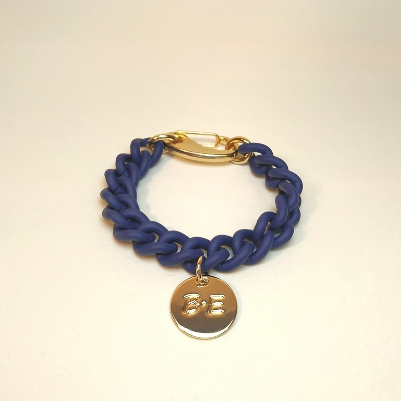 CHAIN BRACELET MATT FINISH Blue