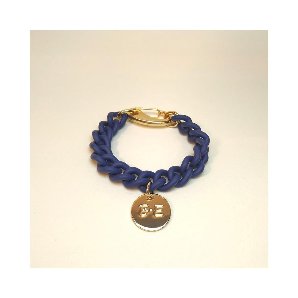 CHAIN BRACELET MATT FINISH Blue