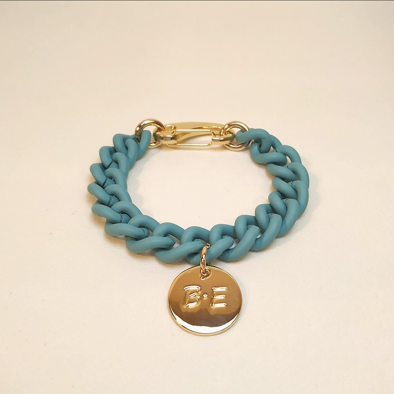 CHAIN BRACELET MATT FINISH Turquoise