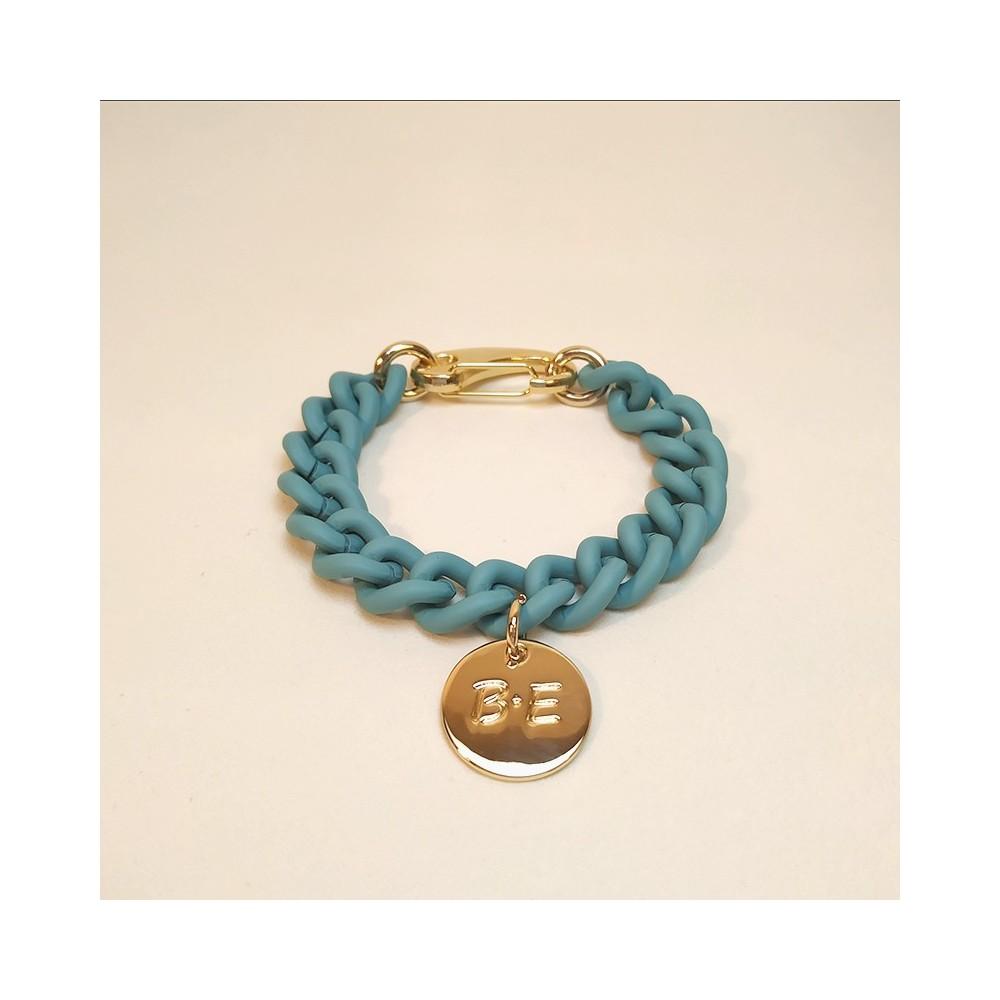 CHAIN BRACELET MATT FINISH Turquoise
