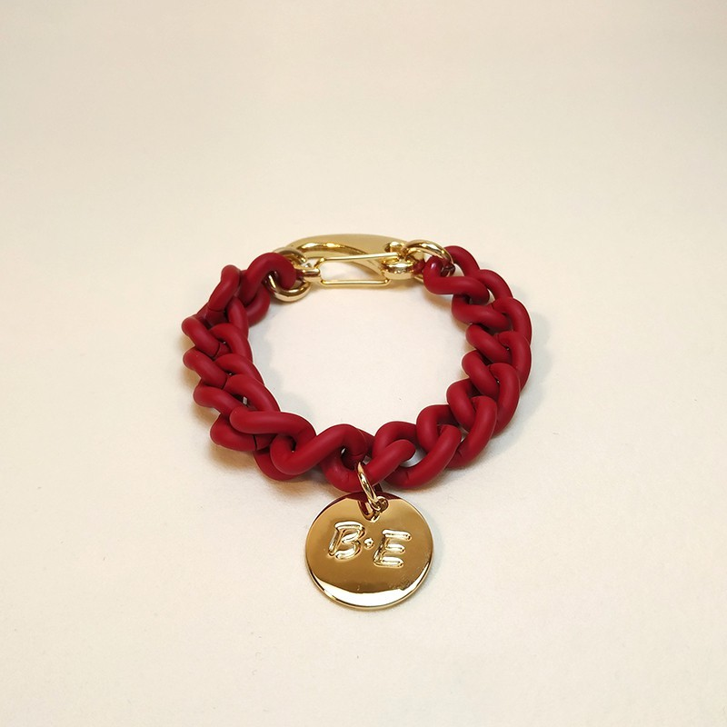 CHAIN BRACELET MATT FINISH Red