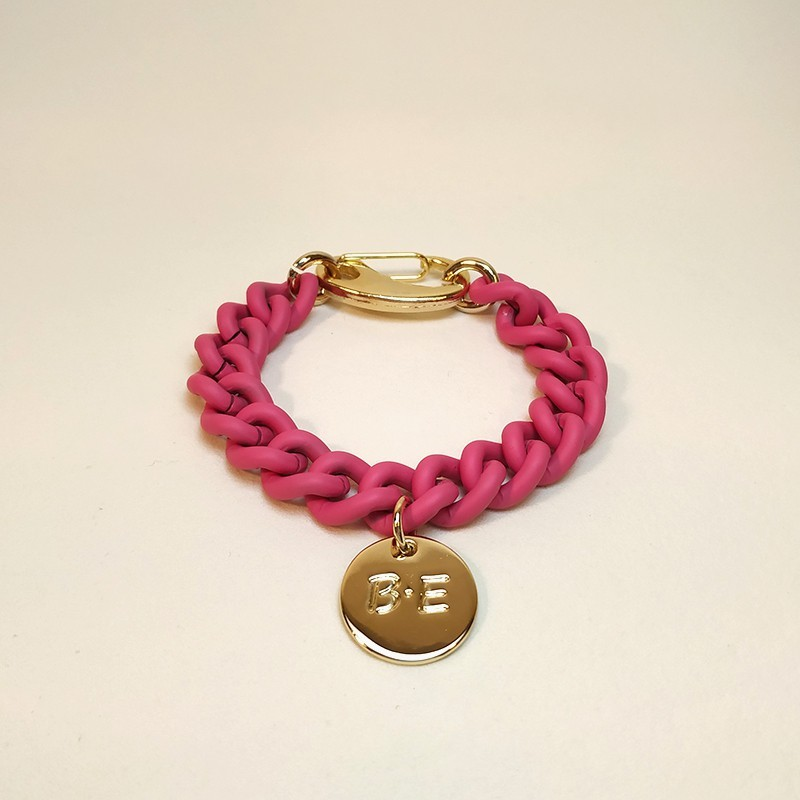 CHAIN BRACELET MATT FINISH Pink