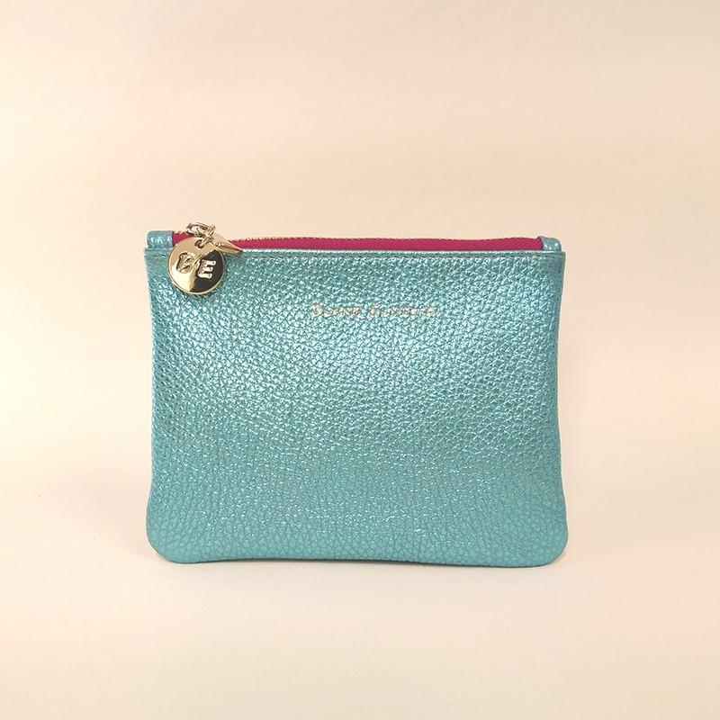 WALLET CLUTCH metallic turquoise