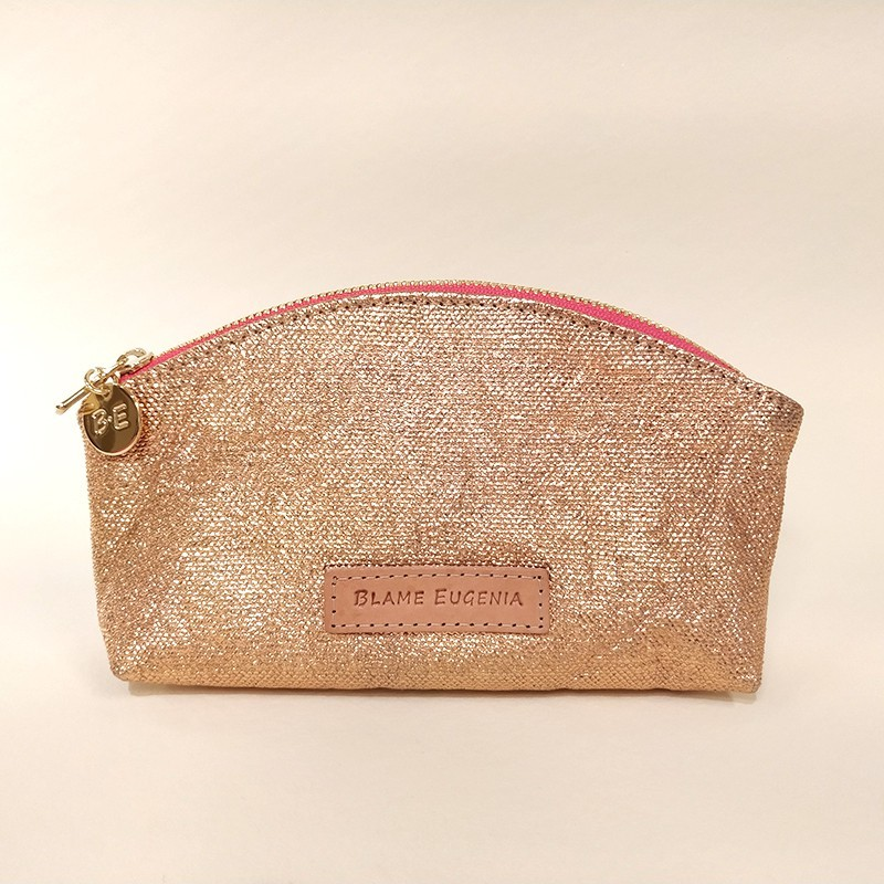 MAKEUP CASE Glitter Salmon Pink