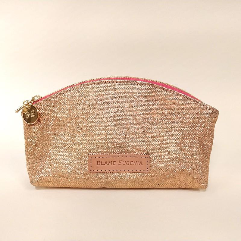 MAKEUP CASE Glitter Salmon Pink