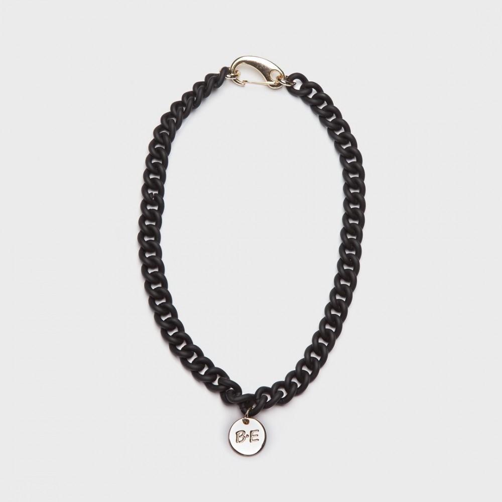 CHAIN NECKLACE MATT FINISH black
