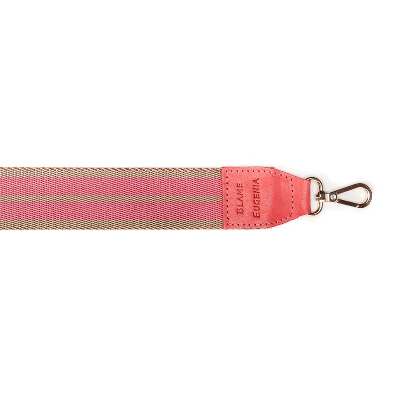 FUN STRAP PINK/CAMEL LEATHER STRAWBERRY