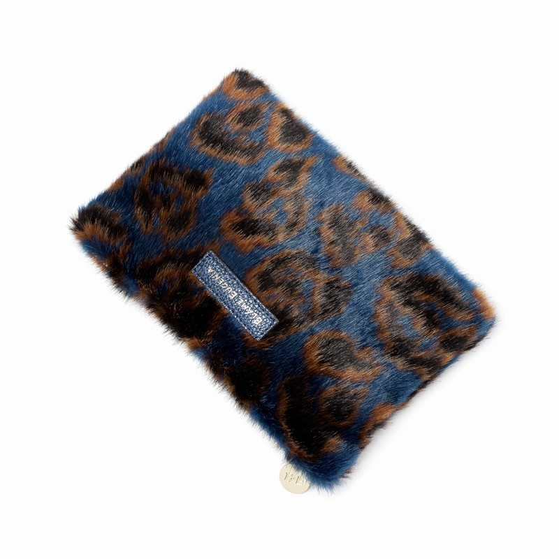 MINI POUCH TEDDY LEO BLUE